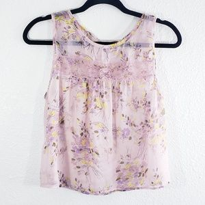 Band of Gypsies Sleevesless Floral Top Size M
